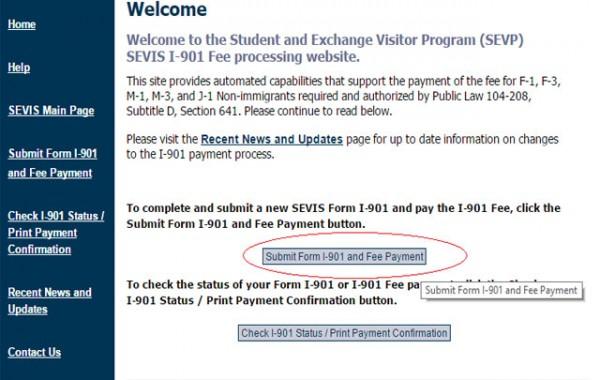 วิธีการจ่ายค่า SEVIS